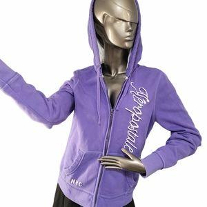 🍁3/$30 Aeropostale Purple Hoodie Sz XL
